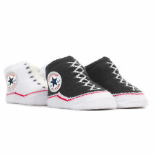 Converse All Star Baby Sock Booties (2 Pack) 0-6 Months, Black/White