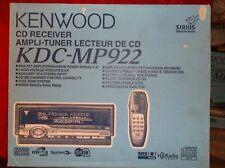 OLD SCHOOL KENWOOD KDC- MP922 CD-RECEIVER!! 3-SETS OUTPUTS!! RARE 3D MASK,NEW