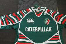 Canterbury Leicester TIGRES MAILLOT DE RUGBY VERT TAILLE L neuf avec étiquette
