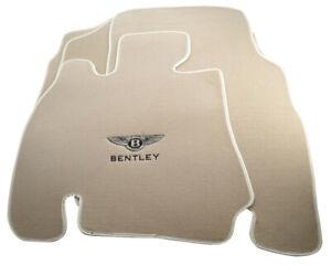 Floor Mats For Bentley Arnage 1998-2009 With Bentley Emblem Tailored Beige Set