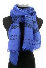 Écharpes et châles foulard bleu pour femme, en 100% coton