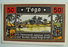 Notgeld DEUTSCHE KOLONIEN 50 Pfg. Togo 1922 Germany Colony Africa Togo (2333)