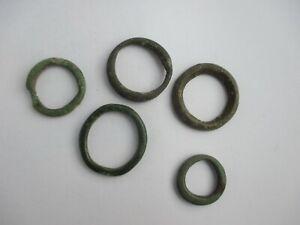5 pieces Ancient Roman  Bronze Rings.