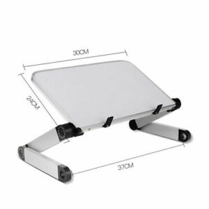 Aluminum Adjustable Laptop Notebook Table Stand Tray Lazy Foldable Computer Desk