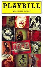 """Norbert Leo Butz (Debut) """"RENT"""" Idina Menzel / Adam Pascal '96 Playbill / Ticket"""