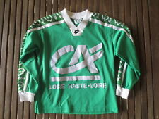 Maillot AS SAINT-ETIENNE Porté n°14 école de foot LOTTO vintage shirt 140 L