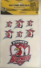 62531 Sydney Roosters NRL Set of 7 UV Car Decal Sticker Stickers Sheet iTag
