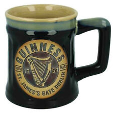 Official Guinness Pottery Beer Mug Tankard 0 5l Black