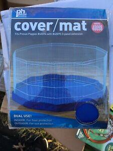 Prevue Playpen Mat/Cover Blue Dual Use Indoor Outdoor Dog Cat