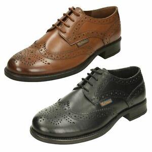 Ben Sherman Hombre Simpson BEN3153 Cuero Marrón o Negro Zapatos (Mr. )