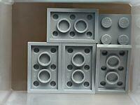 LEGO Parts - Light Bluish Gray Plate 2 x 3 - No 3021 - QTY 5