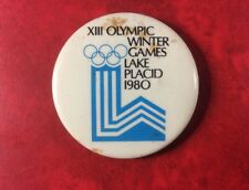 XIII OLYMPIC WINTER GAMES LAKE PLACID 1980. Rare With Blue Only. Metal.
