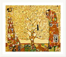 The Tree of Life by Gustav Klimt 75cm x 62cm Framed White
