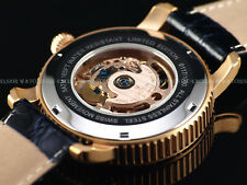 Croton 40mm Lim.Ed. Swiss ETA 2824 Automatic Skeleton Dial Crocodile Strap Watch