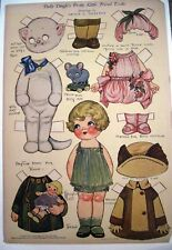 "1927 ""Dolly Dingle"" Paper Doll by G.G. Drayton - Pretty Little Friend Teedie *"
