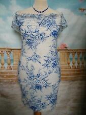 NEW Lipsy Dress Size 16 Blue Lace Stretch/Bodycon Summer Wedding Holiday