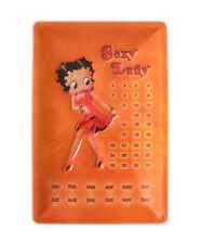 Blechschild Kalender Betty Boop Sexy Lady Türschild Wandschild Schild Nostalgie