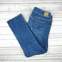 AMERICAN EAGLE Women's Cropped Stretch Artist Jeans SIZE 6 Medium Wash