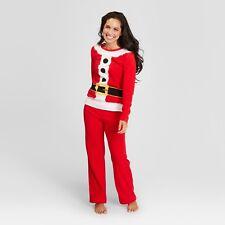NWT Wondershop Family Red Santa Pajamas Womens size XS Fleece Mom Christmas