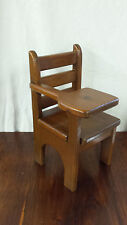 Wooden School Chair Desk For Dolls Bears Doll House Furniture