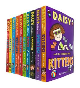 Daisy Fiction 10 Books Collection Set by Kes Gray (Kittens, Sports Day,Vampires)