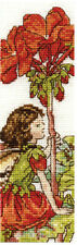 DMC Flower Fairies Cross Stitch Kit Geranium Fairy Bookmark