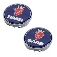 Saab 9-3 9-5 900 9000 Set of 2 Center Hub Caps for Alloy Wheel 12 775 052