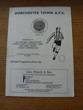 05/10/1974 Dorchester Town v Folkestone & Shipway  (Light Crease/Fold)