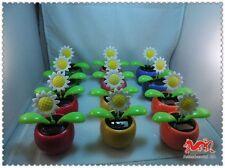 A884 Flip Flap Solar Blume Auto Zubehör  6 Farben 12 Stück Sonnenblumen