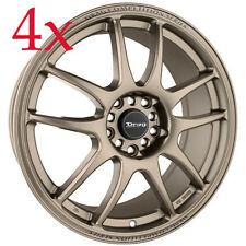 Drag Wheels DR-31 16x7 5x100 5x114 Rally Bronze Rims For Celica Golf Beetl Jetta