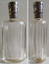 Flacon à sels parfum en cristal + argent massif 19e s. silver bottle Netherlands