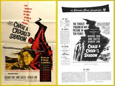 CHASE A CROOKED SHADOW pressbook Anne Baxter, Richard Todd -----PLUS POSTER-----