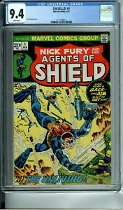 S.H.I.E.L.D. 1 CGC 9.4 WHITE PAGES NICK FURY 2/73 Marvel Comics NEW CGC CASE