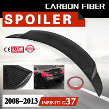 Spoiler Wing for 2008-2013 Infiniti G37 Black Wing Lip Carbon Fiber