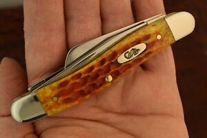 CASE XX USA 2014 POCKET WORN HARVEST ORANGE BONE STOCKMAN KNIFE 6318 SS (5243)