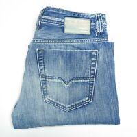 Diesel Industry Viker Mens Jeans Blue Wash Denim Size W33 L32 Made in Italy