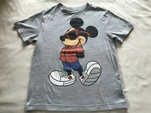 DISNEY Mickey Mouse GRAY TOP SIZE M(7-8)