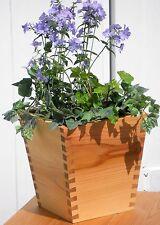 "Cedar Dovetail 10"" Planter Box / Flower Pot  Indoor / Outdoor Garden Deck"