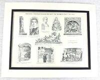 1897 Antico Stampa Antico Romana Architettura Statue Pittura Classico Antiquity