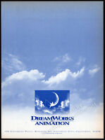 DREAMWORKS ANIMATION__Original 1996 Trade print AD promo / industry advert