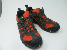 MERRELL Gore-tex Size 10 Hiking Shoe Trainer Waterproof Red & Black VGC ( A4)