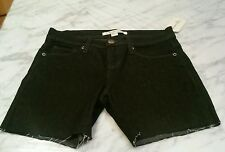 NWT, Women's Juniors FOREVER 21 Black Denim Cut Off Shorts Size 25