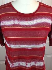NWT ANTHROPOLOGIE CECILIA PRADO Knit Top Blouse Short Sleeve Pink/Rose Size S