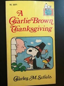 A Charlie Brown Thanksgiving Book 1st Edition October 1975 Vintage Snoopy