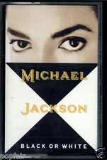 MICHAEL JACKSON - BLACK OR WHITE / (INSTRUMENTAL) 1991 UK CASSINGLE SLASH HUDSON