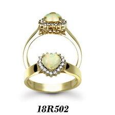 Echte Diamanten-Ringe aus Gelbgold mit Herz