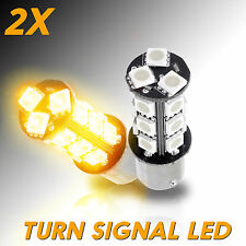 2 pcs Amber 1156 BA15s 18-SMD Turn Signal Corner LED Light Bulbs 7506