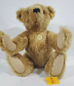 "LM VINTAGE Steiff 000201 21"" Mr. Cinnamon Teddy Bear Jointed Mohair Jointed NEW"