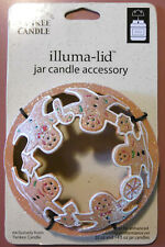 Yankee Candle Sparkly GINGERBREAD COOKIES Illuma-Lid Jar Candle Accessory Topper