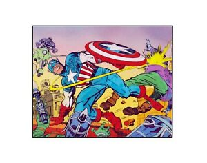 Captain America 1967 Jack Kirby/ Marvel comics Silver Age Sericel